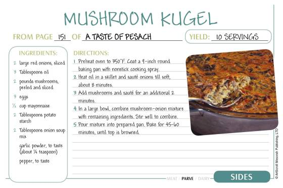 Pesach Recipe Cards2