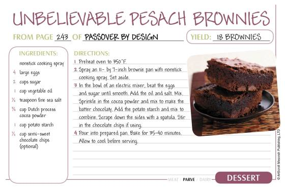 Pesach Recipe Cards4