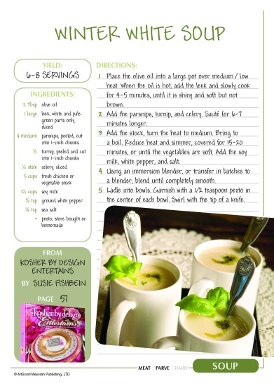 Soup: Winter White Soup from Kosher by Design Entertains :